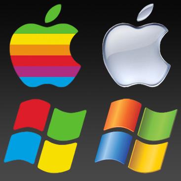 Slika   Apple in Microsoft (apple microsoft)
