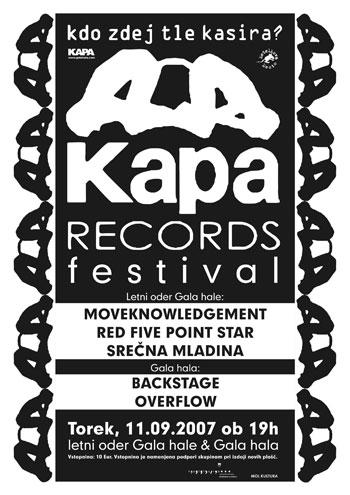 Slika   Festival KAPA records (festival kapa rec)