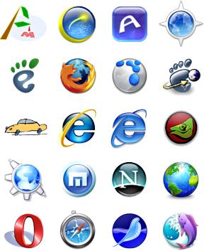 Slika   Kaj je brskalnik? (browsers logos)